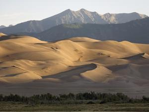 Great Sand Dunes with the Sangre De Cristo Mountains at Sunrise by Scott S. Warren
