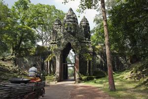 The South Gate to Angkor Thom, a Temple Complex Near Angkor Wat by Scott S. Warren