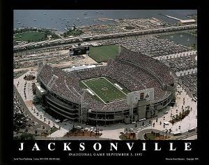 Jacksonville Jaguars Alltell Stadium Inaugural Game Sept 3, c.1995 by Scott Schwartz