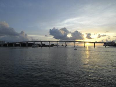 Clearwater Pass Bridge from Sand Key to Clearwater Beach at Sunset