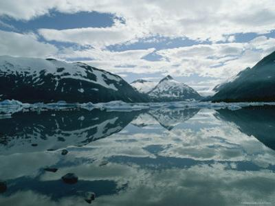 Mountains and Sky Reflected in Portage Lake