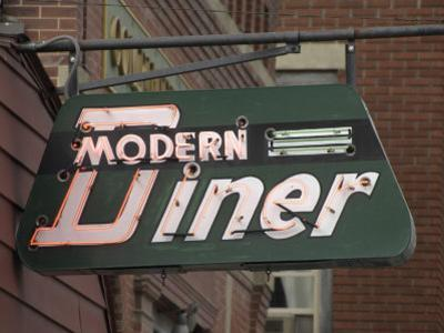 Neon Sign for the Modern Diner, on Main Street