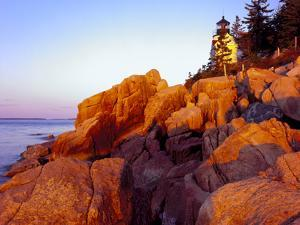 Acadia NP, Maine. Bass Harbor Head Lighthouse at Sunrise by Scott T. Smith