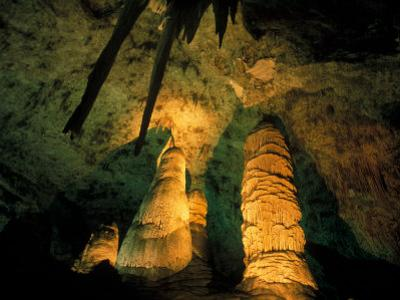 Columns and Domes in the Big Room, Carlsbad Caverns National Park, New Mexico, USA by Scott T. Smith