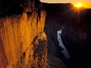 Grand Canyon NP, Arizona. Usa. Sunrise, Cliffs and the Colorado River by Scott T. Smith