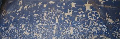 Petroglyphs Carved on Rock Face, Newspaper Rock Park, Canyonlands National Park, Utah, USA by Scott T. Smith