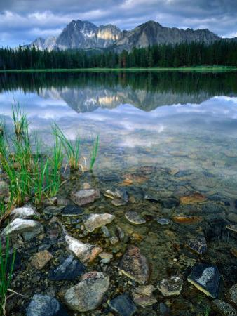Rocky Shore of Frog Lake, Challis National Forest, Sawtooth National Recreation Area, Idaho, USA by Scott T. Smith