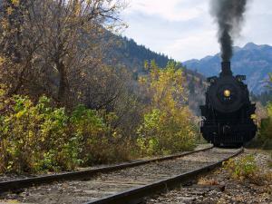 Steam Locomotive of Heber Valley Railroad Tourist Train, Wasatch-Cache National Forest, Utah, USA by Scott T. Smith