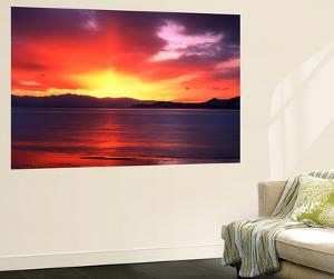 Sunset over Farmington Bay, Utah, USA by Scott T. Smith