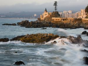 Surf at Playa Los Artistas, Wulff Castel and Resort Hotels, Vina Del Mar, Chile by Scott T. Smith