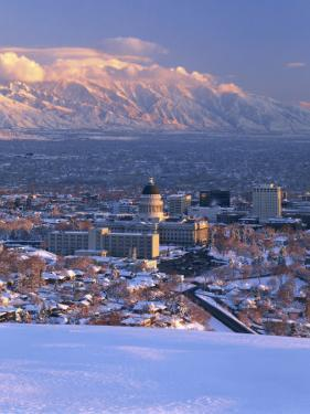 Utah State Capitol with the Wasatch Mountains, Salt Lake City, Utah by Scott T. Smith