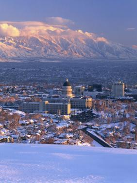 Utah State Capitol with the Wasatch Mountains, Salt Lake City, Utah by Scott T^ Smith
