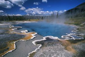 View of Hot Springs at Yellowstone National Park, Wyoming, USA by Scott T. Smith