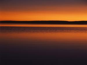 View of Yellowstone Lake at Sunset, Yellowstone National Park, Wyoming, USA by Scott T. Smith