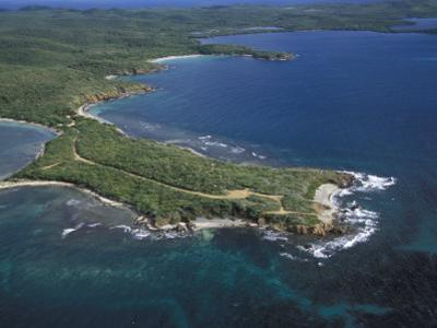 Aerial View of the East End of Vieques Island, Puerto Rico