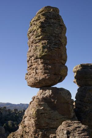 Balanced Pinnacle Rock in the Heart of Rocks in Chiricahua National Monument by Scott Warren