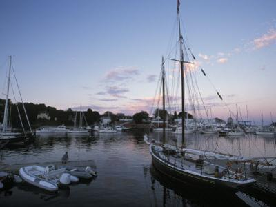 Harbor at Rockland, Maine at Sunset
