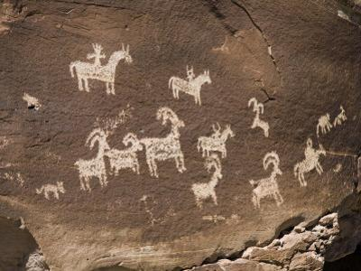 Historic Ute Indian Petroglyphs in Arches National Park