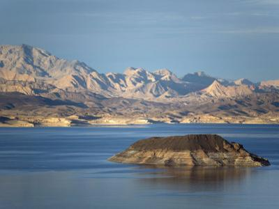 Lake Mead at Dusk with Rugged Landscape