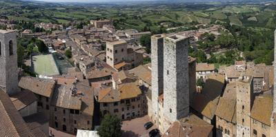 The View from Torre Grossa in San Gimignano, Italy