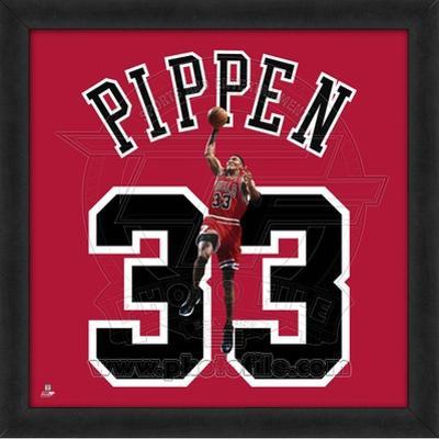Scottie Pippen, Bulls  Representation of the player's jersey