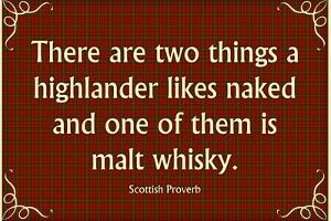 Scottish Proverb Things a Highlander Likes Naked Art