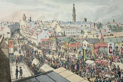 Drawing of Glasgow Fair, from 'The Glasgow Looking Glass', 1825 by Scottish School