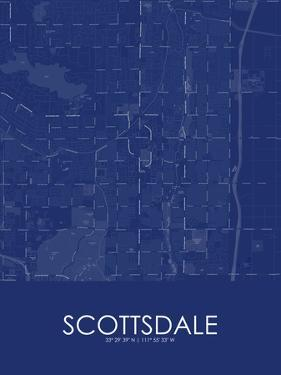 Scottsdale, United States of America Blue Map