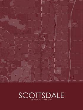 Scottsdale, United States of America Red Map