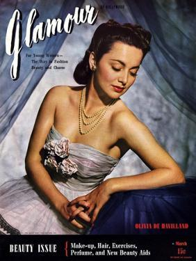 Glamour Cover - March 1941 by Scotty Welbourne