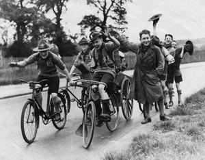 Scouts on Bikes 1930