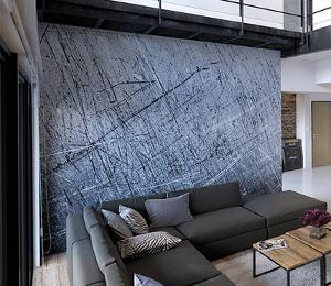 Scratched Metal Wall Mural
