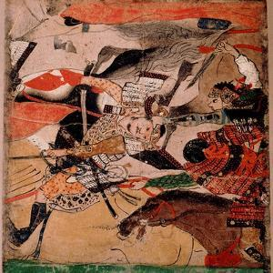 Scroll Fragment Depicting the Battle of Rokuhara