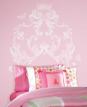 Scroll Headboard Peel and Stick Giant Wall Decal