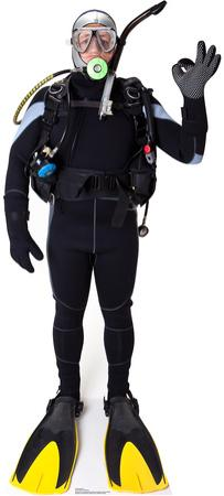 Scuba Diver Lifesize Standup