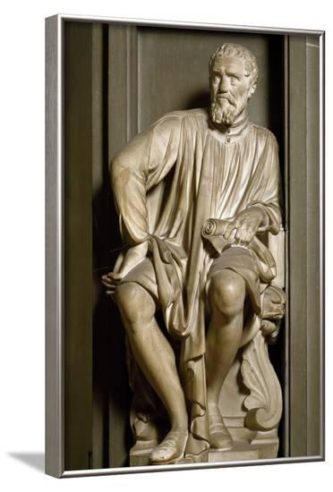 Sculpture of Michelangelo by Antonio Novelli--Framed Photographic Print