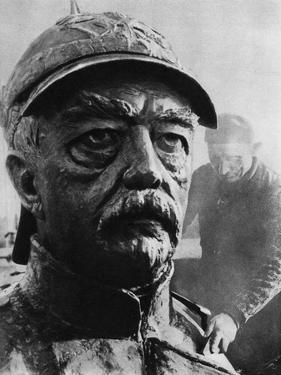 Sculpture of Otto Von Bismarck, 19th Century Prussian Statesman, 1937