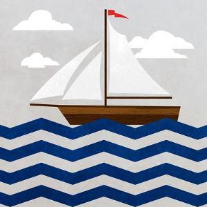 Chevron Sailing II by SD Graphics Studio