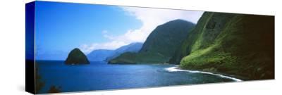 Sea Cliffs at Kalawao, Pacific Ocean, Kalaupapa Peninsula, Molokai, Hawaii, USA