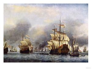 Sea Fight Between England and Holland during the Dutch War, June 1666