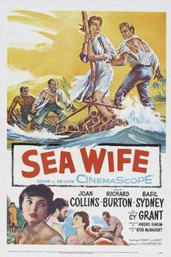 Sea Wife, Joan Collins, (Bottom Left), Richard Burton, (Second from Bottom Left), 1957