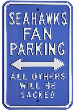Seahawks Sacked Parking Steel Sign