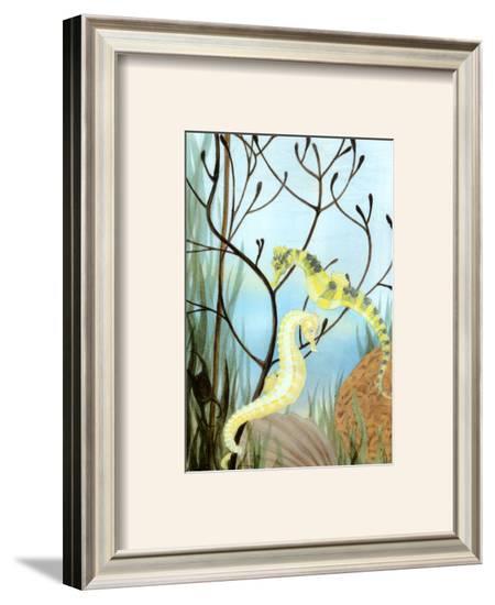 Seahorse Serenade II-Charles Swinford-Framed Art Print