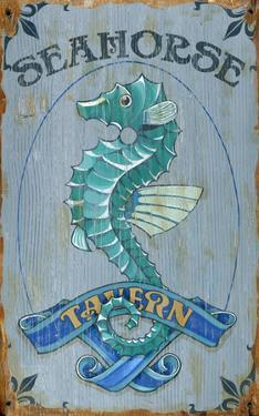 Seahorse Tavern Wood Sign