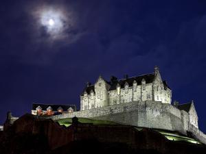 Edinburgh Castle at Night by Sean Caffrey