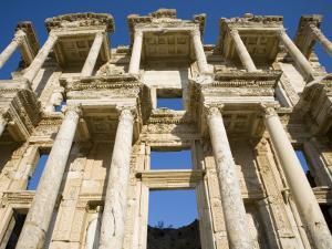 Greek Facade Ruins at Ephesus by Sean Caffrey