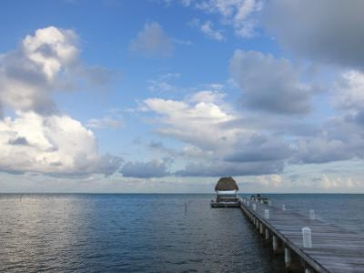 San Pedro Beach Dock, Looking Out Towards Caribbean Sea
