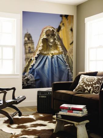 Skeleton Adorned as Virgin Mary
