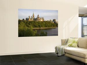 The Buildings of Parliament Hill, Along the Ottawa River by Sean Caffrey