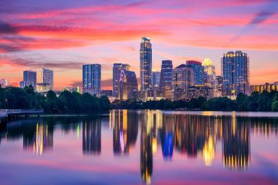 Austin, Texas, USA Skyline on the Colorado River by Sean Pavone